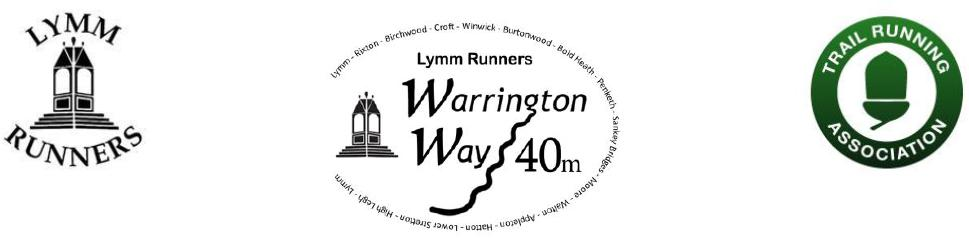 Warrington Way 40 mile trail ultramarathon 2020 - VIRTUAL TRAIL RACE 1-30 NOV 2020