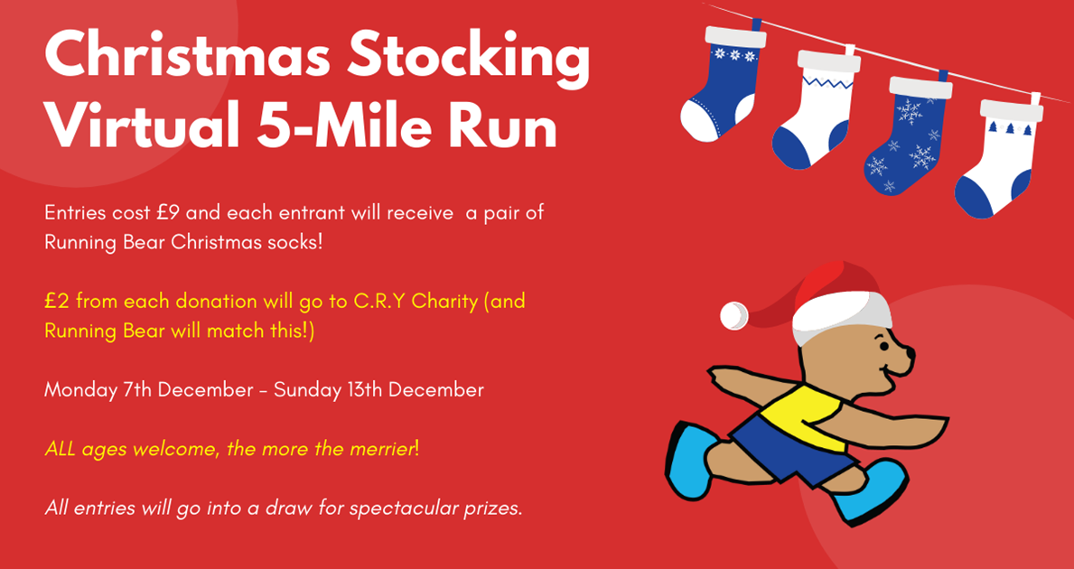 Running Bear Christmas Stocking Run